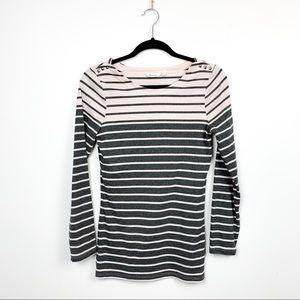Striped Light Pink & Grey Reitman's Long Sleeve